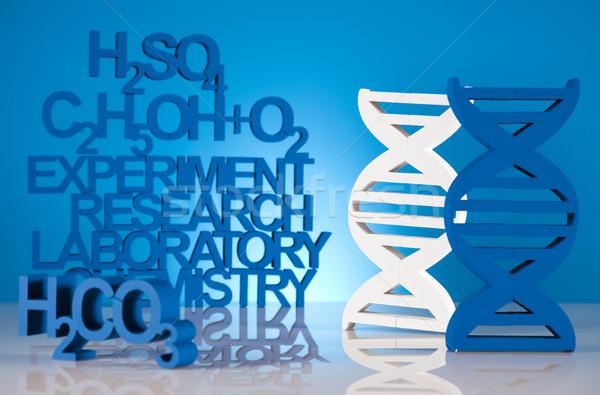 DNA kimya formül su dizayn Stok fotoğraf © JanPietruszka