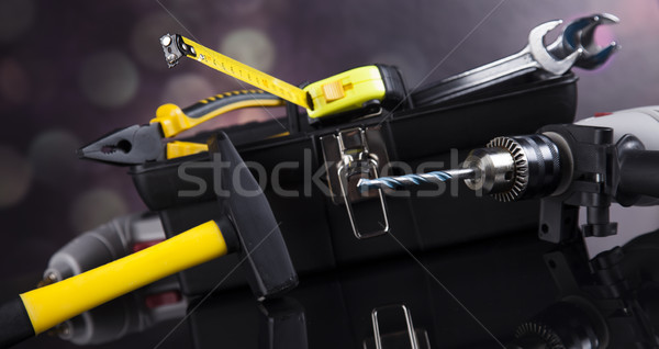 Stock photo: Still life with constructor tools
