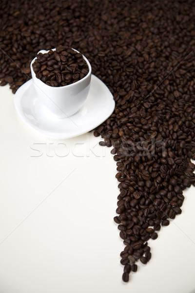 Koffein élénk fényes textúra étel keret Stock fotó © JanPietruszka