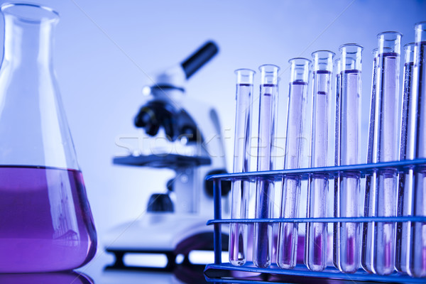 Microscope in medical laboratory, Research and experiment Stock photo © JanPietruszka