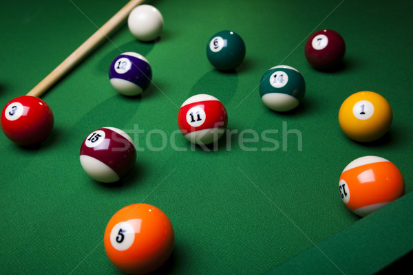 бильярдных зеленый таблице спорт фон Сток-фото © JanPietruszka