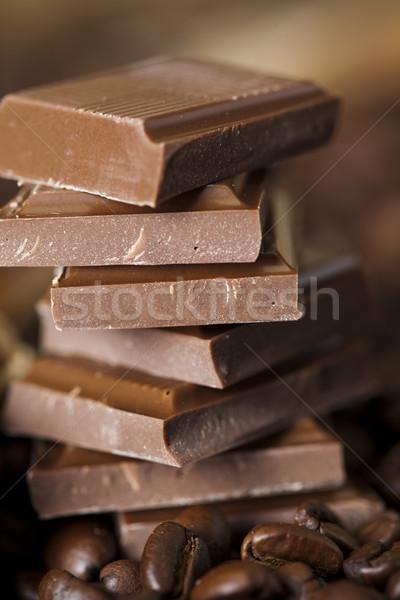 Chocolate and Coffee, vivid colors, natural tone Stock photo © JanPietruszka