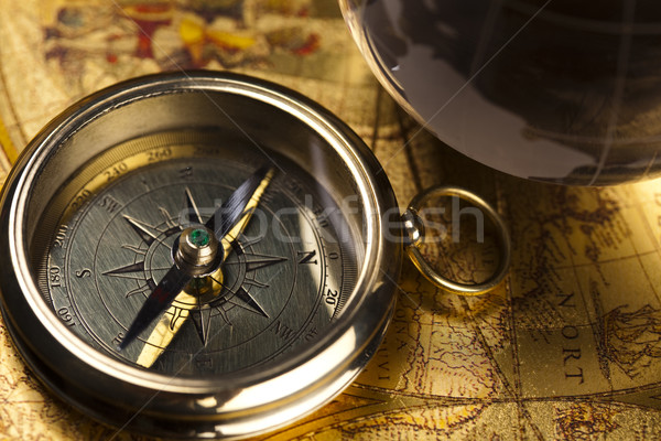 Detail closeup compass Stock photo © JanPietruszka