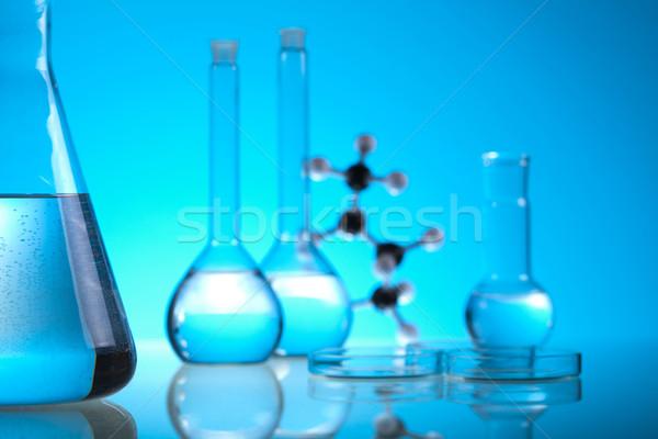 Laboratorium wyroby szklane eksperyment medycznych laboratorium chemicznych Zdjęcia stock © JanPietruszka