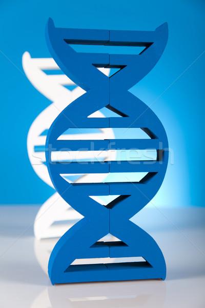 DNA cząsteczki laboratorium wody projektu podpisania Zdjęcia stock © JanPietruszka