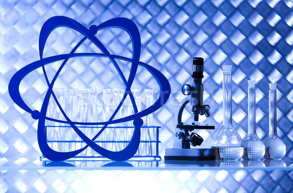 Laboratory glassware, bio organic modern concept Stock photo © JanPietruszka