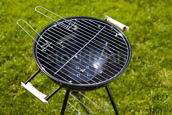 Barbecue forró nyár este grillezés étel Stock fotó © JanPietruszka