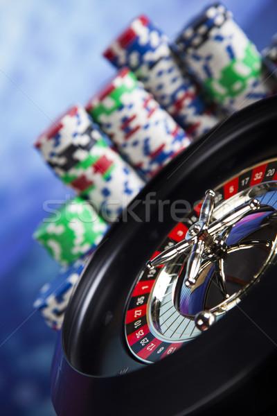 Roleta jogos de azar cassino tabela diversão preto Foto stock © JanPietruszka