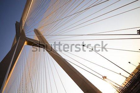 Modern bridge, saturated landmark view Stock photo © JanPietruszka