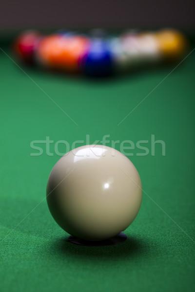Biliárd labda közelkép élénk színek természetes Stock fotó © JanPietruszka