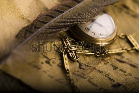 Old paper, vintage saturated ambient concept Stock photo © JanPietruszka