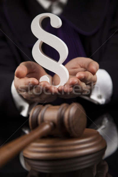 Court gavel,Law theme, mallet of justice, Paragraph Stock photo © JanPietruszka