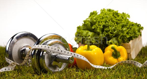 Stok fotoğraf: Uygunluk · gıda · yeşil · ot · sağlık · enerji · yağ