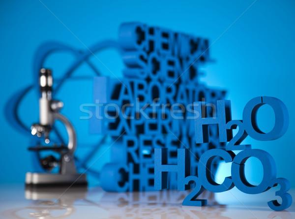 Stockfoto: Chemie · formule · geneeskunde · wetenschap · fles · laboratorium