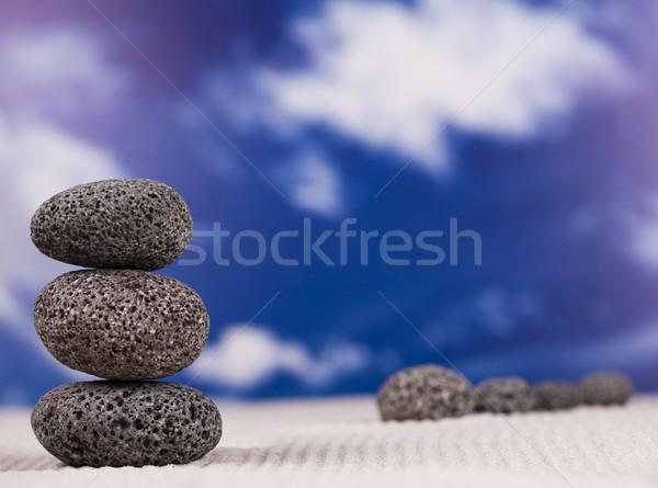 Zen taş grup kaya dinlenmek hayat Stok fotoğraf © JanPietruszka