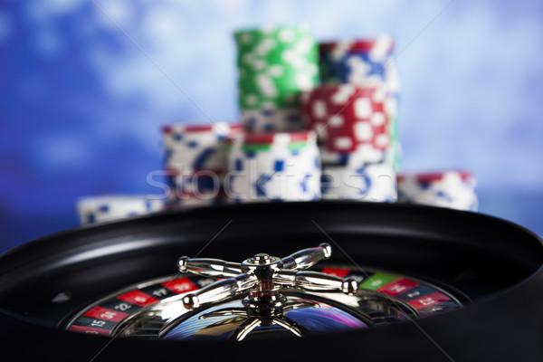 Játszik rulett kaszinó póker zsetonok számítógépes játékok jókedv Stock fotó © JanPietruszka