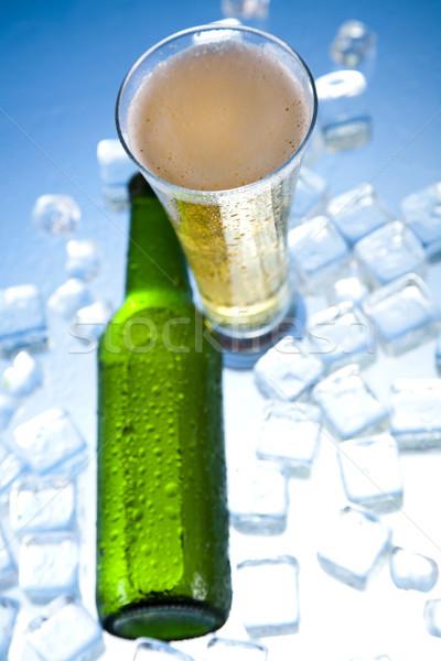 Bier Eis hellen lebendige Alkohol Party Stock foto © JanPietruszka