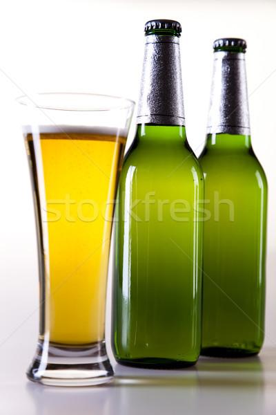 Wunderbar Bier hellen lebendige Alkohol Party Stock foto © JanPietruszka