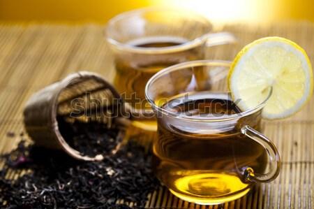 Foto d'archivio: Vetro · Cup · tè · limone · medicina · bere