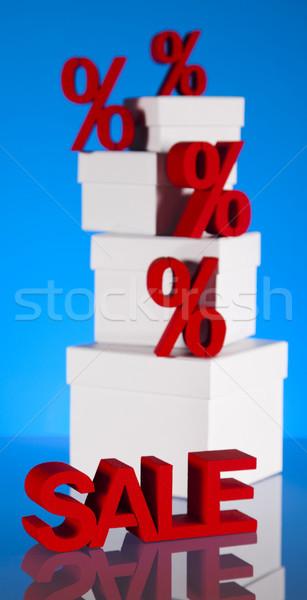 Percentagem desconto negócio assinar vermelho banco Foto stock © JanPietruszka