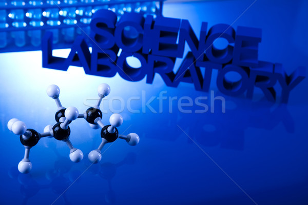 Chimiques laboratoire verrerie technologie verre bleu Photo stock © JanPietruszka