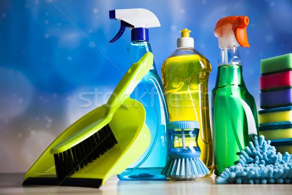 Választék takarítás munka otthon csoport üveg Stock fotó © JanPietruszka