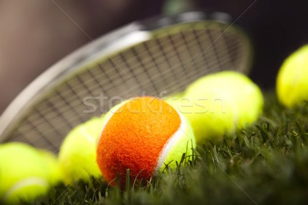 Sportartikelen natuurlijke kleurrijk sport voetbal zomer Stockfoto © JanPietruszka