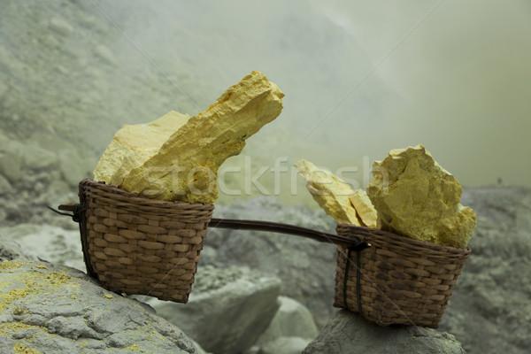 Basket sulfur, volcano in Indonesia Stock photo © JanPietruszka