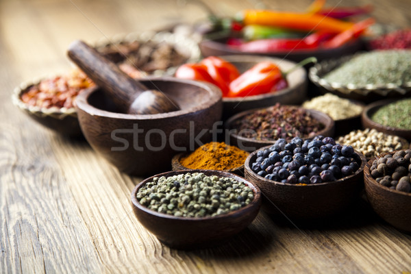 красочный специи кухня яркий продовольствие лист Сток-фото © JanPietruszka