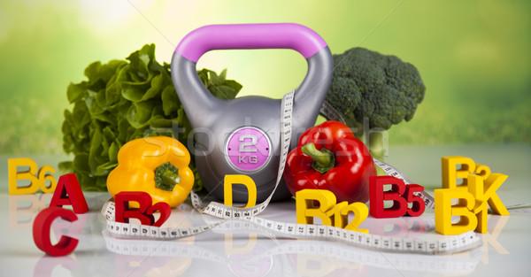 Vitamina fitness dieta estilo de vida salud deporte Foto stock © JanPietruszka