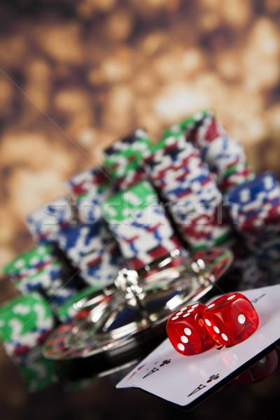 ルーレット カジノ 演奏 チップ 楽しい ストックフォト © JanPietruszka