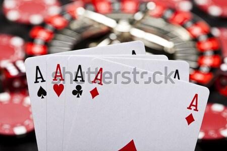 Kártyapakli kaszinó fény jókedv póker kártyák Stock fotó © JanPietruszka
