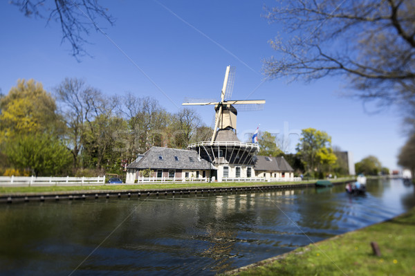 голландский Windmill Нидерланды старые Голландии небе Сток-фото © JanPietruszka