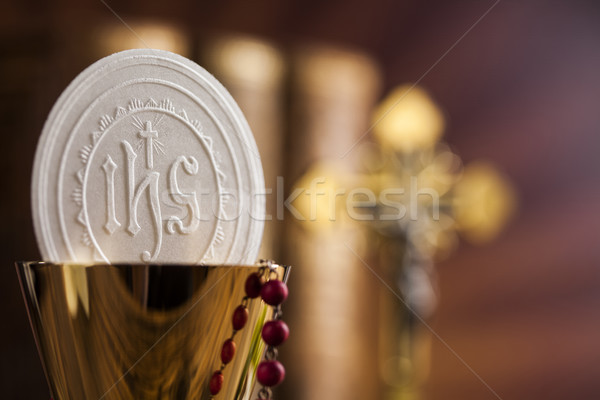 Eucharist, sacrament of communion background  Stock photo © JanPietruszka