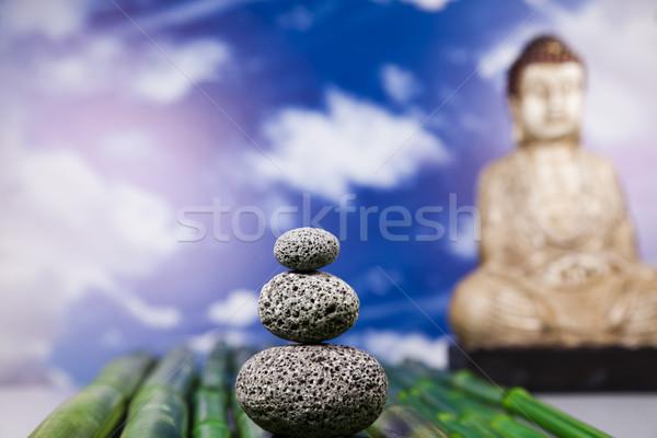 Still life with buddha statue and bamboo Stock photo © JanPietruszka