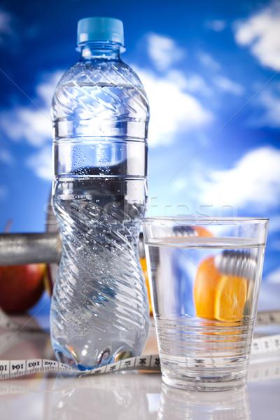 Fitness dieta deporte energía grasa cielo azul Foto stock © JanPietruszka