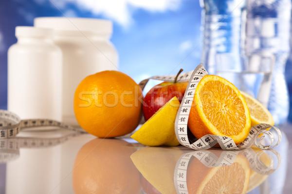 Fitnessz kiegészítő sport egészség gyógyszer izom Stock fotó © JanPietruszka