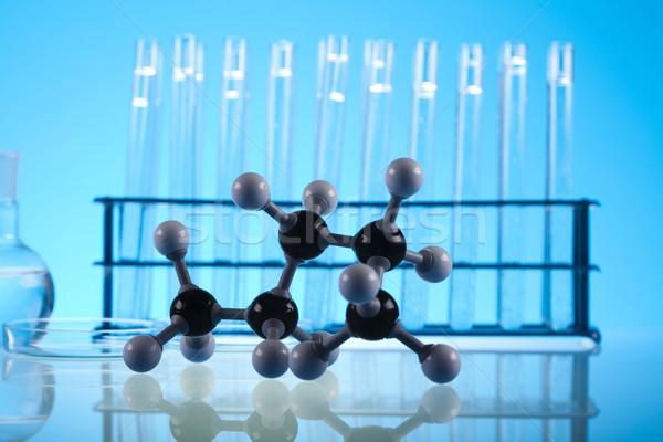 Assorted laboratory glassware , experiment Stock photo © JanPietruszka