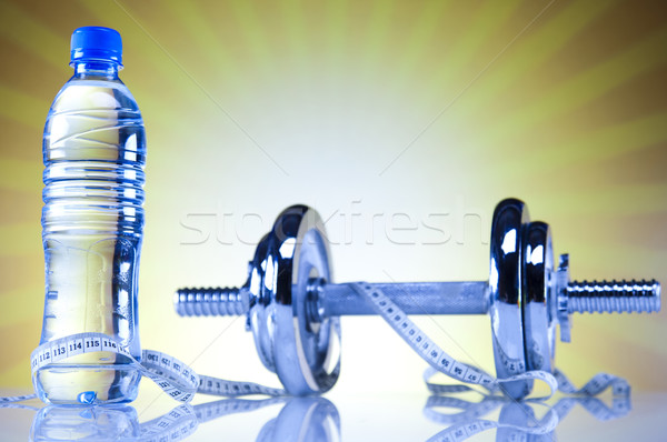 Weight loss, fitness, Dumbell  Stock photo © JanPietruszka