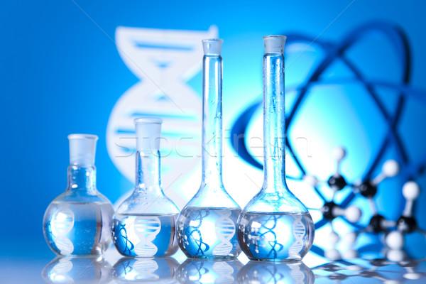 Laboratorium szkła chemia nauki wzoru muzyka Zdjęcia stock © JanPietruszka