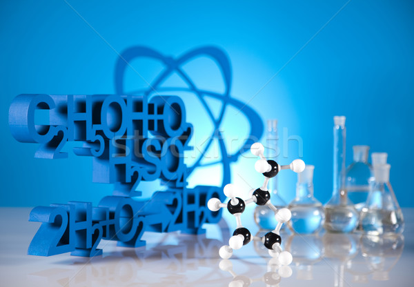 Laboratorio vidrio química ciencia fórmula medicina Foto stock © JanPietruszka