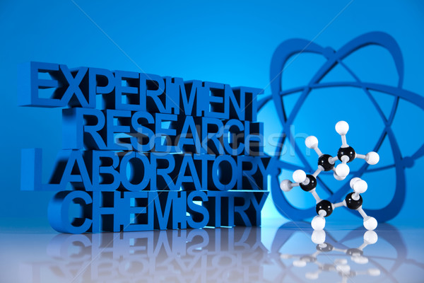 Chemie formule geneeskunde wetenschap fles laboratorium Stockfoto © JanPietruszka