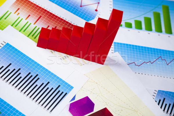 Percentagem desconto colorido assinar vermelho financiar Foto stock © JanPietruszka