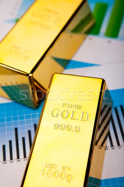 Financial indicators,Chart,Gold bar Stock photo © JanPietruszka