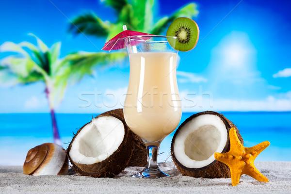 Egzotyczny alkoholu napojów naturalnych kolorowy żywności Zdjęcia stock © JanPietruszka