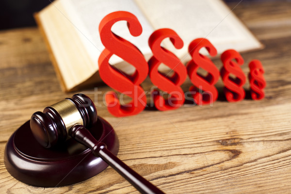 пункт судья прав книга правосудия древесины Сток-фото © JanPietruszka
