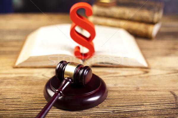 Gerechtigkeit Absatz Holz Rechtsanwalt Richter Kriminalität Stock foto © JanPietruszka