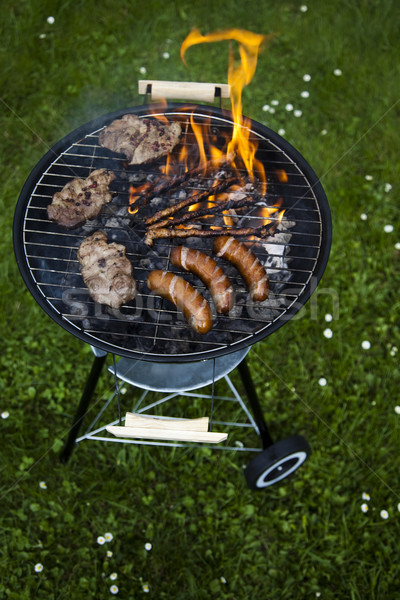 Barbecue a hot summer evening, Grilling Stock photo © JanPietruszka