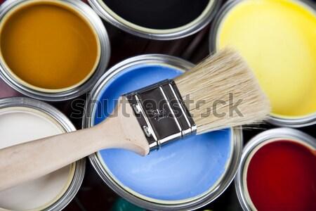 Vernice luminoso colorato abstract design home Foto d'archivio © JanPietruszka