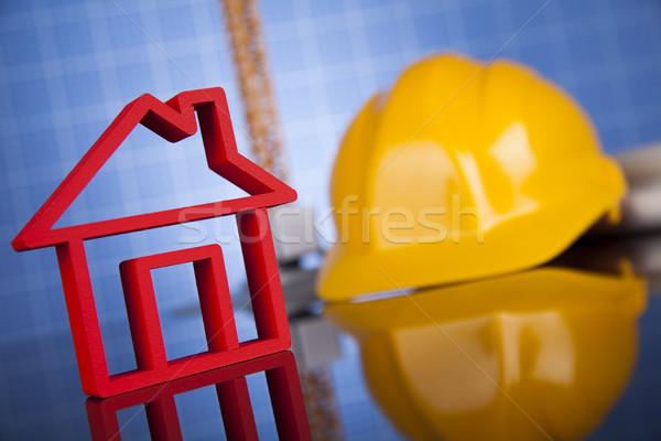 家 モデル 建設現場 クレーン 青写真 ビジネス ストックフォト © JanPietruszka